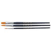 ナイロン3本組 短軸 プレンティ用 絵筆 絵具 筆 絵 画材 図工 美術 学校教材 スケッチ