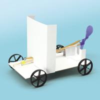 風やゴムの働き実験カー 通電チェッカー 実験 理科 夏休み 宿題 自由研究 学校教材 学習教材 アーテック