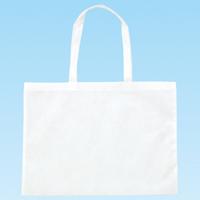 作品収納バッグ不織布[特大] 白 作品バッグ 収納バッグ 幼稚園 小学校