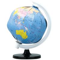 地球儀 ペーパークラフト地球儀 φ10.6cm 小型地球儀 知育玩具 教育 手作り 科学 工作 観察