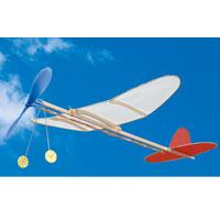 模型 プロペラ飛行機 ゴム動力 ライトプレーン Aスイセイ  知育玩具 教育