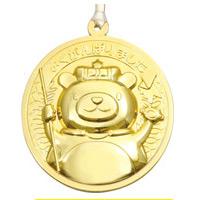 ゴールド・3Dビッグメダル クマ メダル 運動会 幼稚園 保育園 入学祝い 子供 ご褒美 大会 幼児