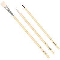 白軸デザイン筆3本組[溝引棒無] アーテック 筆 絵具 筆 画材 図工 工作 美術 教材 水彩 小学生