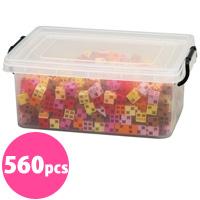 アーテックブロック ウォームカラーセット 立体文字・モニュメント作品 560pcs アーテック 日本製 カラーブロック 日本製 パズル ゲーム 玩具 おもちゃ レゴ・レゴブロックのように自由に遊べます