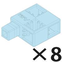 ブロック おもちゃ アーテックブロック ハーフC 薄水 8pcsセット 077887 アーテック 日本製 カラーブロック 日本製 ゲーム 玩具 レゴ・レゴブロックのように自由に遊べます