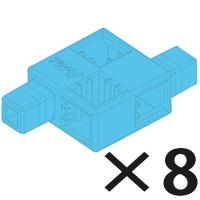 アーテックブロック部品 アーテックブロック ハーフD 水 8pcsセット カラーブロック 日本製 ゲーム 玩具 レゴ・レゴブロックのように遊べます