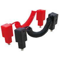 リンクロボ単品パーツ コネクタ赤黒2本組15cm ヘッダーPP袋付 153184 アーテック 知育玩具 ロボット コネクタ リンクロボ ロボティスト 工作 図工 理科 実験 学校教材