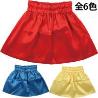 サテンフレアー ミニスカート フレア 衣装 コスプレ 運動会