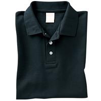 コットンカラー ポロシャツ Sサイズ ブラック キッズ レディース ブラック