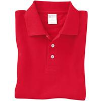 コットンカラー ポロシャツ Lサイズ レッド メンズ レディース 赤