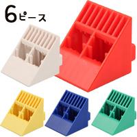 アーテックブロック L ブロック 三角単品 6ピースセット(1色) 日本製 カラーブロック パズル ゲーム 玩具 レゴ・レゴブロックのように自由に遊べます