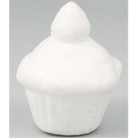 カップケーキ型発泡スチロール 10個組 ねんど 粘土 型のみ スイーツ 手作り 工作キット 夏休み 自由研究 玩具