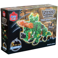 ブロック おもちゃ Artecブロック ダイノビルダーズTRICERATOPS[トリケラトプス] 076785 アーテック 日本製 恐竜 ゲーム 玩具 レゴ・レゴブロックのように自由に遊べます