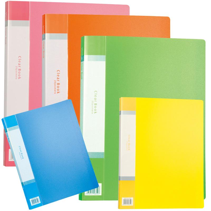 クリアブック 20ポケット アーテック クリアファイル ファイル 学校教材 文具 事務用品