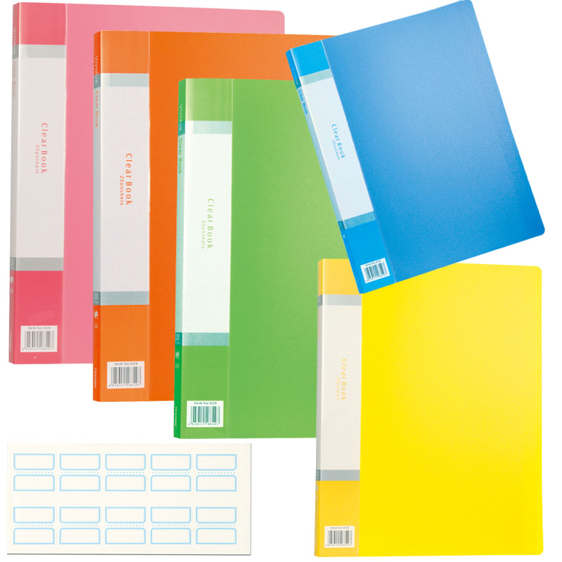 クリアブック 20ポケット[インデックスシール付] アーテック クリアファイル ファイル 学校教材 文具 事務用品