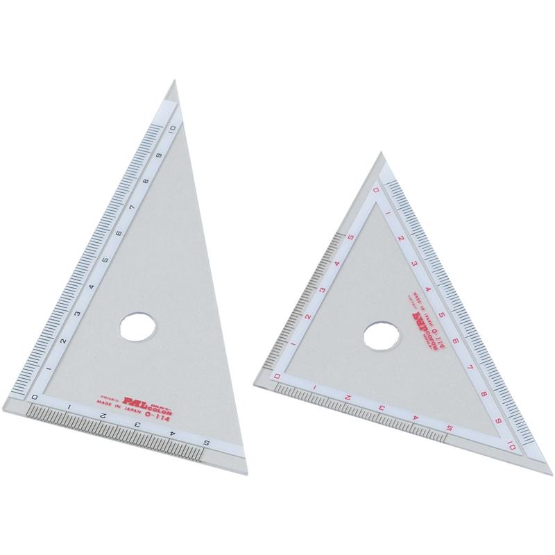 三角定規 10cm 算数 学習教材 定規 小学生 文具