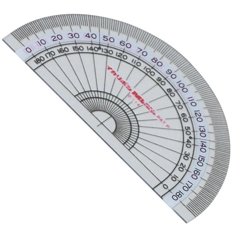分度器 9cm 算数 学習教材 定規 小学生 文具 角度 計る