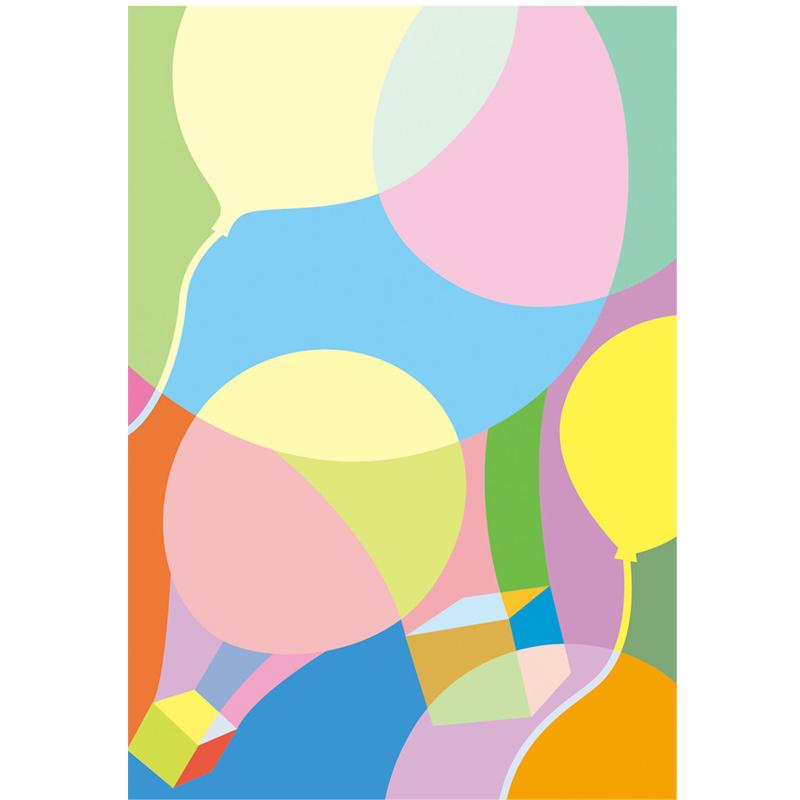 色の感情表現の練習テーマ「軽」10枚セット 色の学習 図工 美術 画材 デザイン 学校 教材 夏休み 宿題