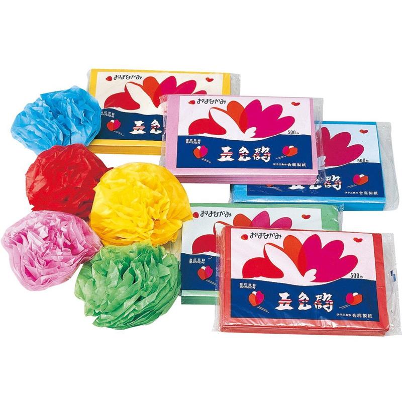 おはながみ 6色12枚組 図工 工作 美術 画材 学校 教材 イベント 幼稚園 保育園