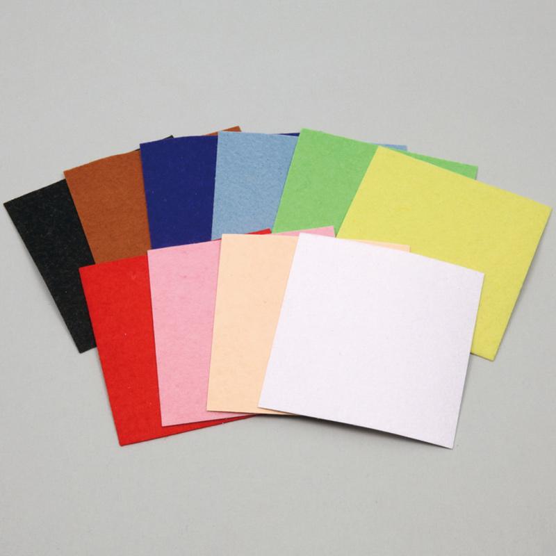 フェルトシールセット小100×100mm10色組 工作 図工 家庭科 裁縫 小学生 画材 学校教材 美術 自由研究 ホビー