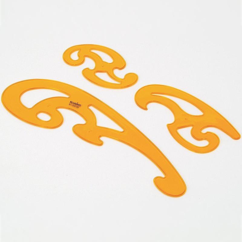 雲形 定規 3種セット 美術 画材絵 定規 図工 筆記用具 文具 絵 スケッチ