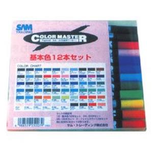 サム・トレーディング カラーマスター 基本12色Aセット マーカーペン 美術 画材 図工 筆記用具 文具 絵 スケッチ イベント