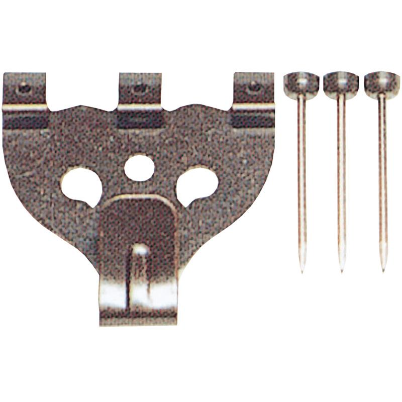 鉄並Xフック 大 3本針 4011 単品 展示用品 フック 美術 図工 画材 絵 学校 教材 文具 作品