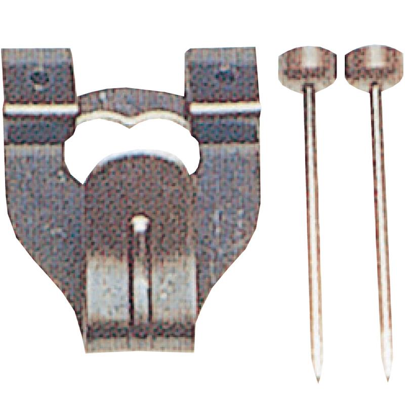 鉄並Xフック 中 2本針 4012 単品 展示用品 フック 美術 図工 画材 絵 学校 教材 文具 作品