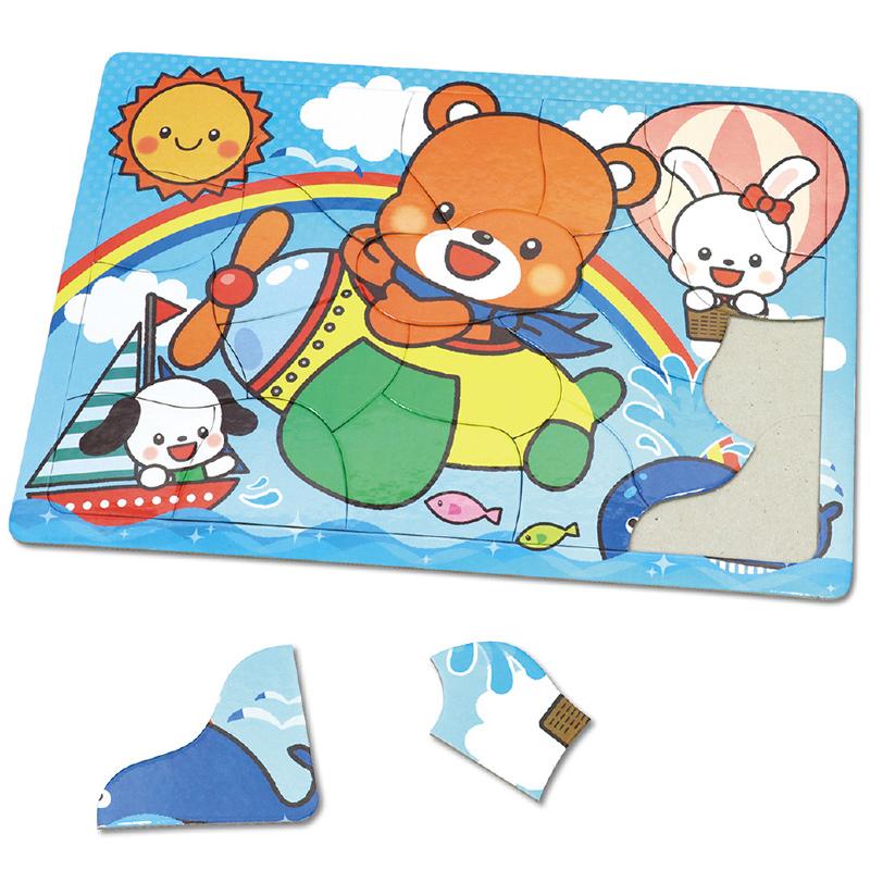 アニマルフレンズ パズル[ひこうき]20P 知育玩具 おもちゃ キッズ 子供 幼稚園 保育園