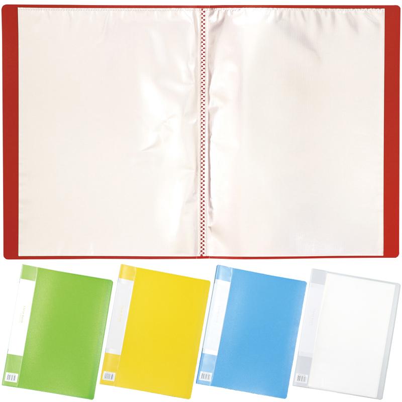 クリアブックB 厚 A4 20ポケット クリアファイル ファイル 収納 整理 文具 学校 教材