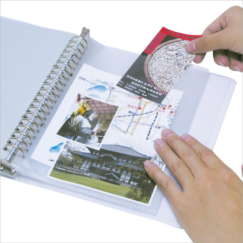 20穴 透明袋[10枚組] 文具 ファイル 収納 整理 事務用品