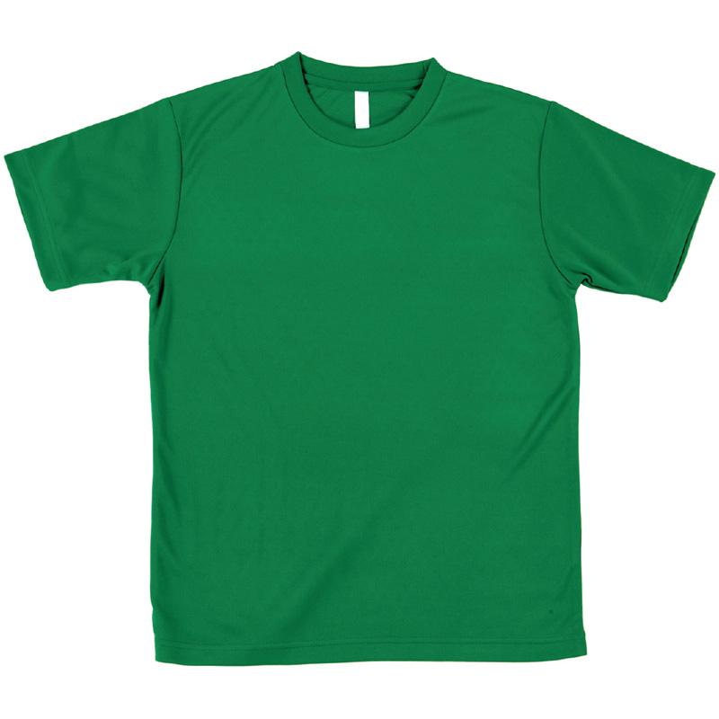 AT ドライTシャツ グリーン 100gポリ100% キッズ 小学生 Tシャツ 男の子 着替え イベント 衣装