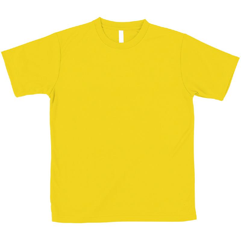 AT ドライTシャツ イエロー 100gポリ100% キッズ 小学生 Tシャツ 男の子 着替え イベント 衣装