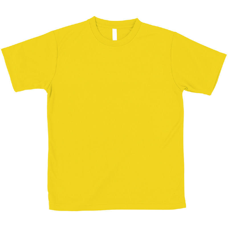AT ドライTシャツ イエロー 150gポリ100% キッズ 小学生 中学生 Tシャツ 男の子 着替え イベント 衣装