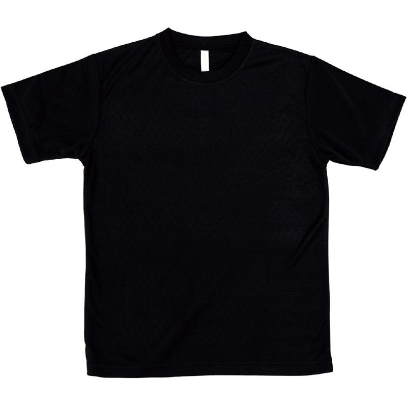 AT ドライTシャツ ブラック 100gポリ100% キッズ 小学生 中学生 Tシャツ 男の子 着替え イベント 衣装