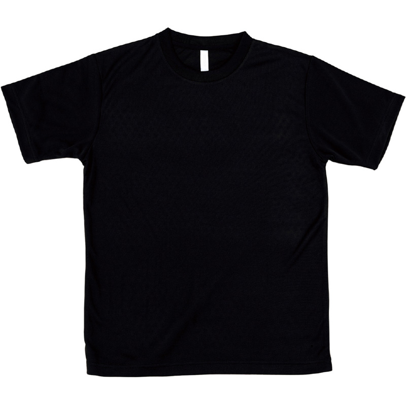 AT ドライTシャツ ブラック 150gポリ100% キッズ 小学生 中学生 Tシャツ 男の子 着替え イベント 衣装