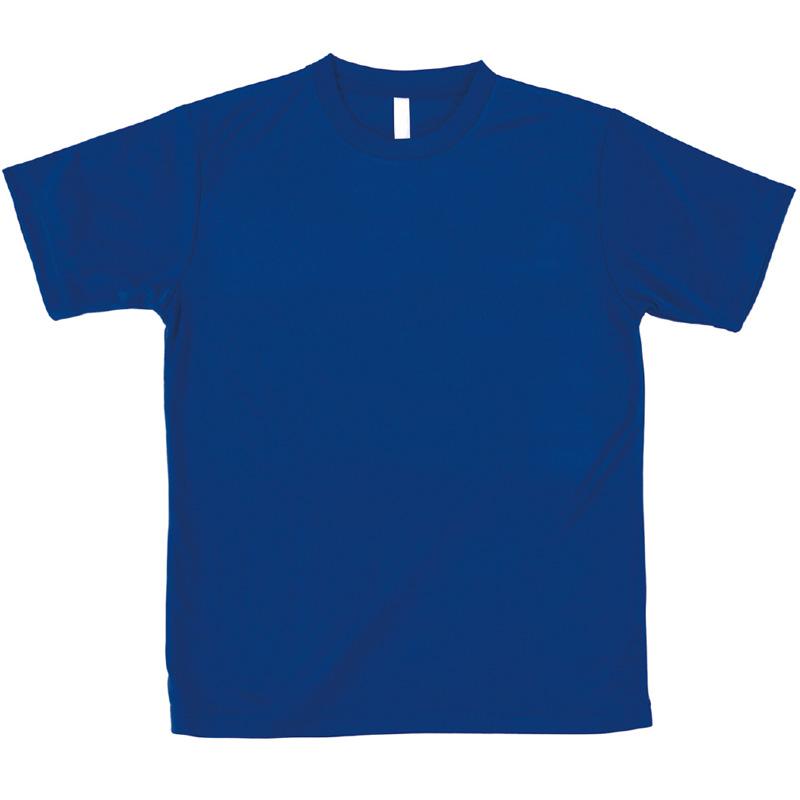 AT ドライTシャツ ブルー 100gポリ100% キッズ 小学生 中学生 Tシャツ 男の子 着替え イベント 衣装