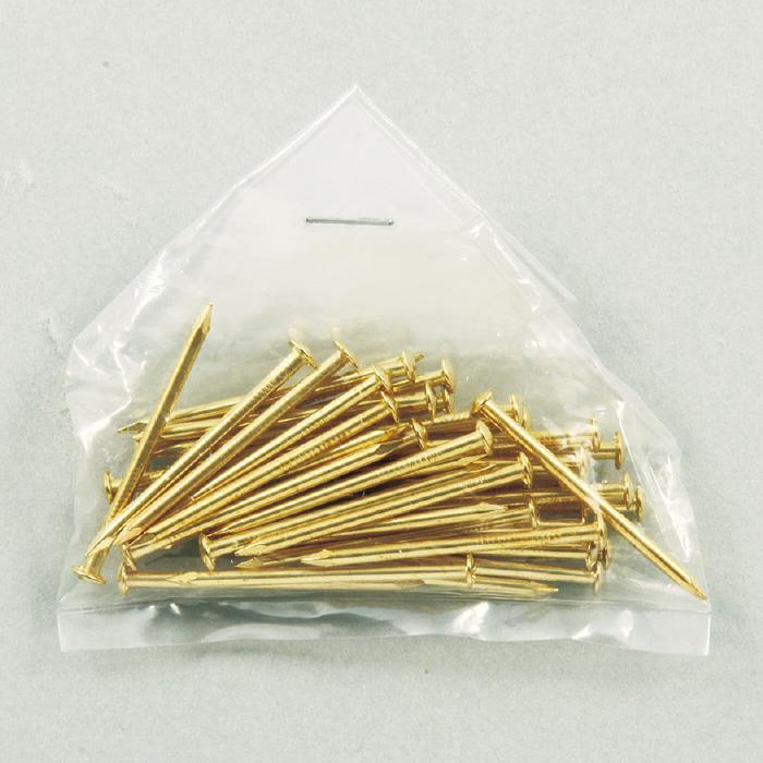 しんちゅう釘 32mm40本組 工作 図工 美術 画材 釘 工具 学校 教材 クラフト