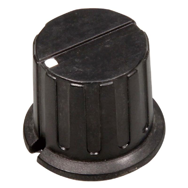 ツマミ 24mm[6φ軸用]黒 工作 パーツ 材料 図工 技術 理科 実験 教材 ロボット 自由研究 夏休み 宿題