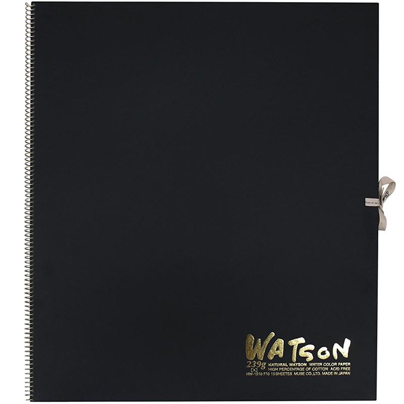 ミューズ 高級水彩紙 ワトソンブック 中性紙 NW-1510 F10 スケッチ ブック 画材 美術 写生 ノート デザイン イラスト 工作 図工