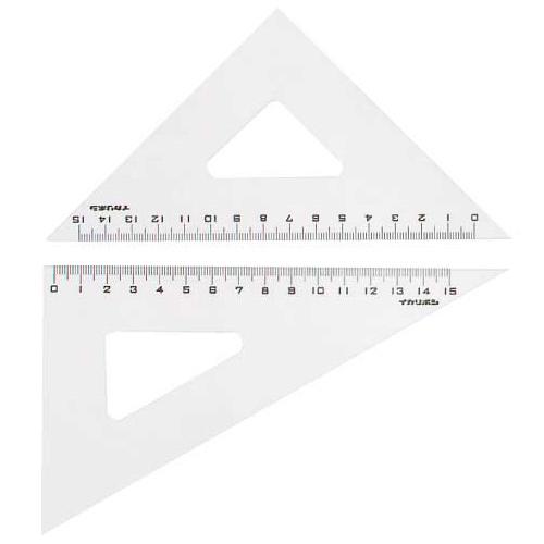 三角定規 小学生 製図 ニューアクリル三角定規 18cm アーテック 文具