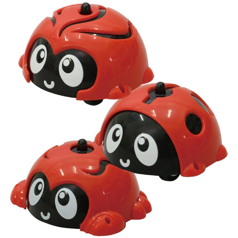 車 おもちゃ ぐるぐるダッシュ てんとう虫 1個 幼児 玩具 幼児 1歳 2歳 形は選べません
