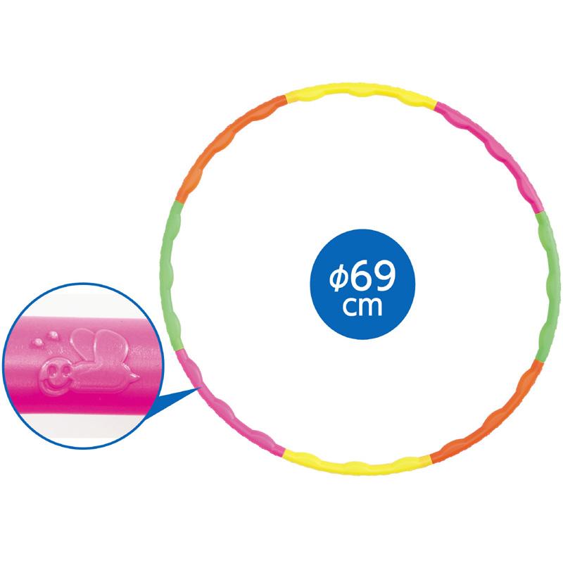 フラフープ ダイエット 69cm パステル 分解できる 子供 運動会 体育祭 組み立て式 エクササイズ 有酸素運動 分解できる 腹筋 下半身痩せ 玩具