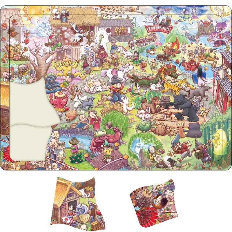 パズル 30ピース 幼児 ゲーム 31種類の昔話の登場人物 知育玩具 キッズ 子供 ジグソーパズル