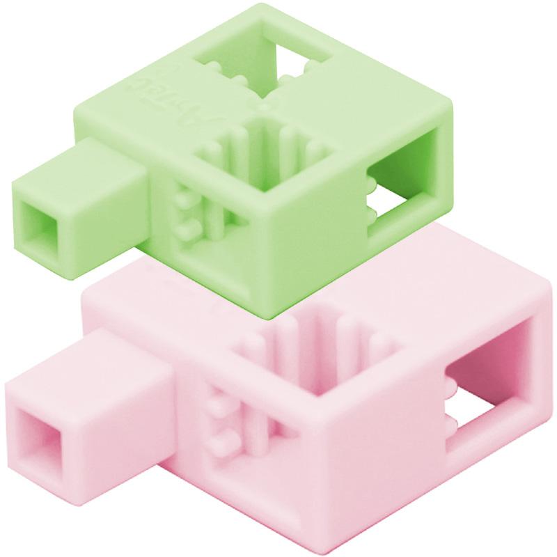 ブロック おもちゃ アーテックブロックハーフQ 8pcsセット 日本製 レゴ・レゴブロックのように遊べます