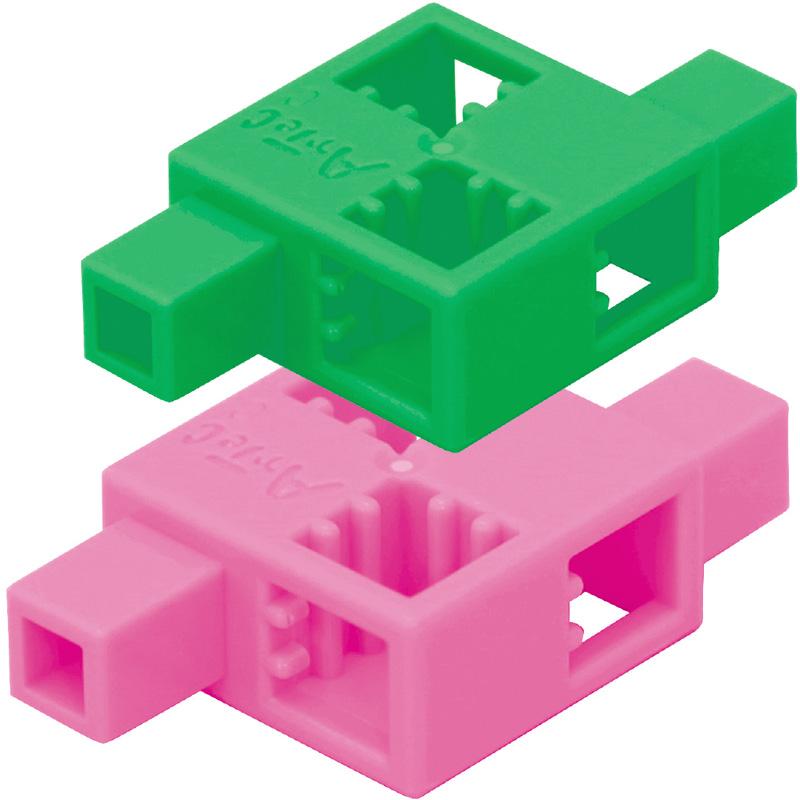 ブロック おもちゃ アーテックブロック ハーフD 8pcsセット 日本製 レゴ・レゴブロックのように遊べます