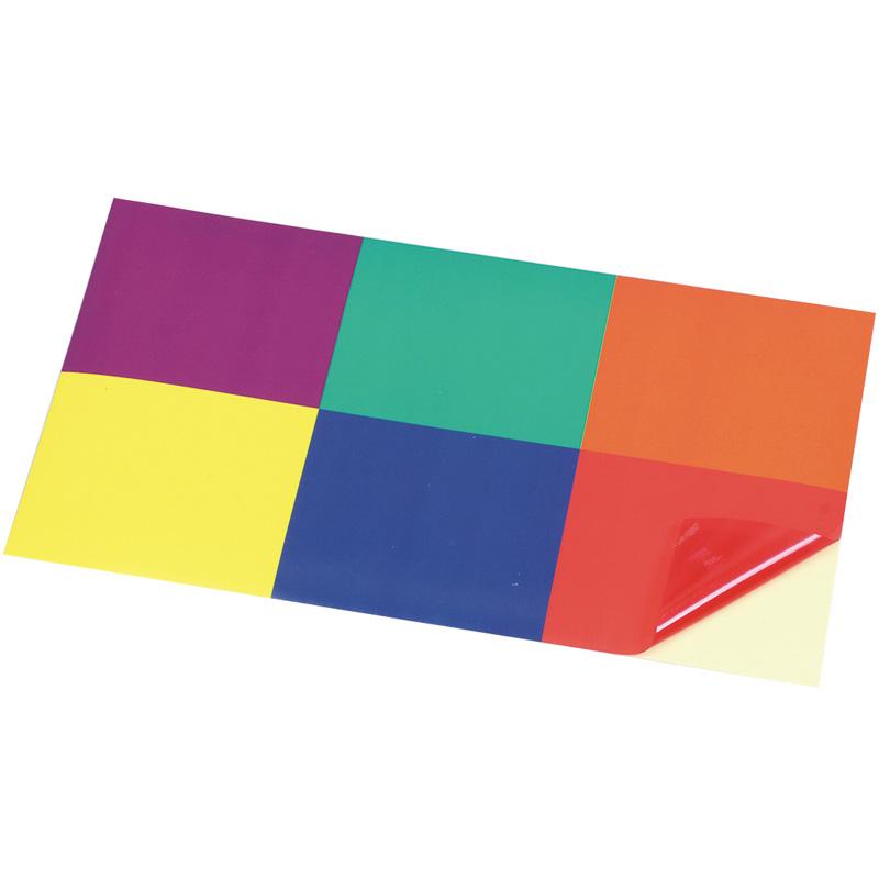 ステンドシール 6色 ステンドグラス シール ステンドガラス 材料 セロファン カラー セロハン 学校教材 子供 小学生 工作 図工