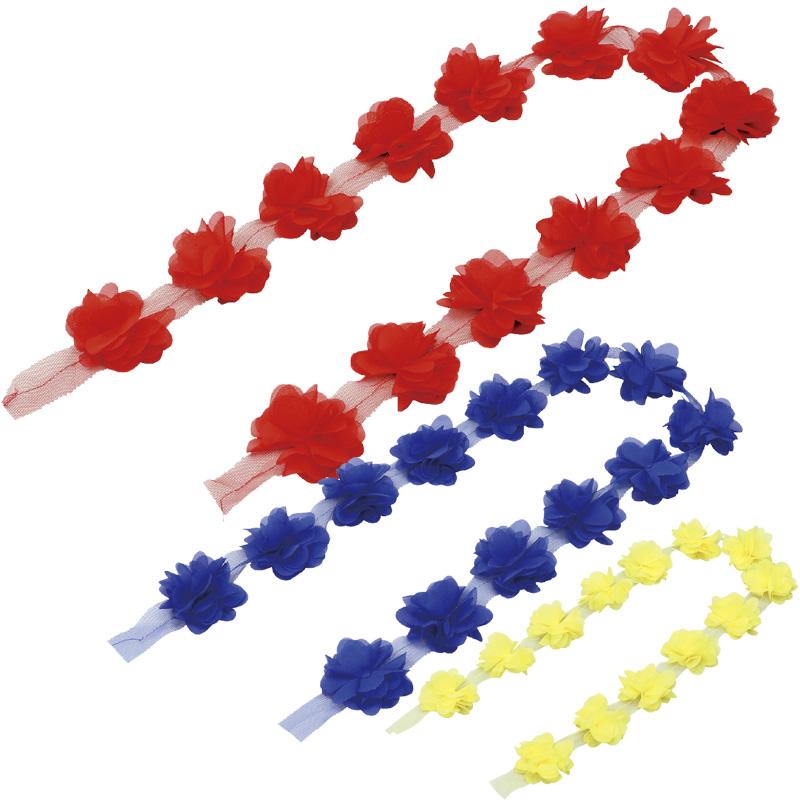 切って使える 花飾り 1m 子供 体育祭グッズ 運動会 衣装 ダンス 腕輪 髪飾り 素材 材料