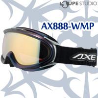 ゴーグル 眼鏡対応 大型 スキー スノーボード 偏光レンズ AX888-WMP [16-17カタログモデル] BK[オーロラブラック] 曇り止め機能付き ダブルレンズ AXE アックス