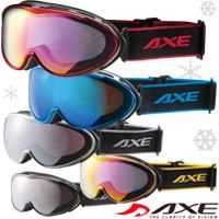 ゴーグル ワイドリムレンズ AXE [アックス] スキー スノーボード AX985-WCM 曇り止め加工 ダブルレンズ 曇り解消 メガネ ヘルメットOK